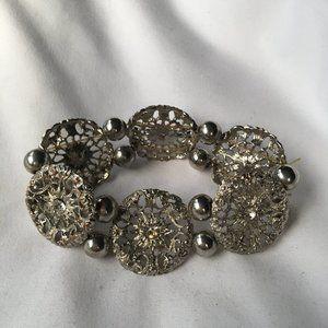 Lane Bryant Rhinestone Studded Silvery Bracelet